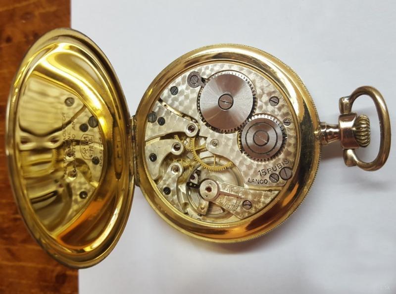 Predám švajčiarske pozlátené vreckové hodinky Lanco 15 Rubis - burza ... 5a85e93a438