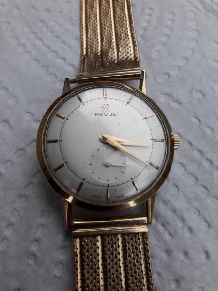 Predám starožitné hodinky REVUE - burza starožitností ... 57a15512a7f